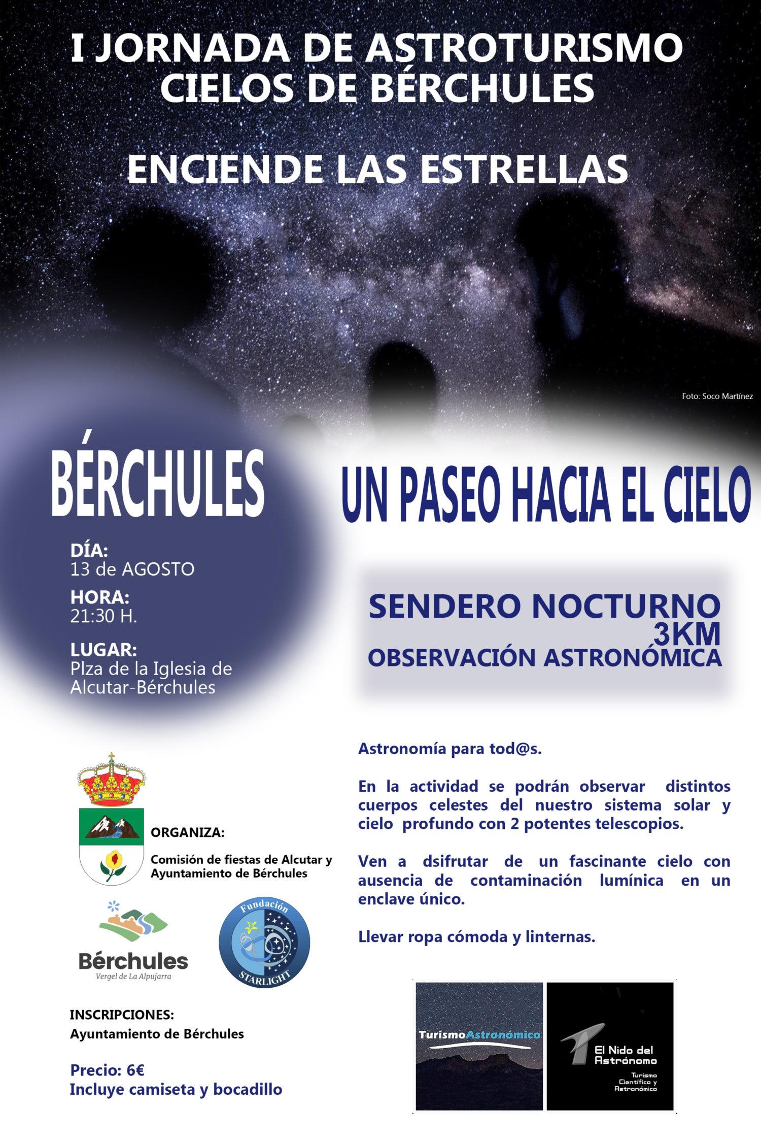 I JORNADA DE ASTROTURISMO CIELOS DE BERCHULES