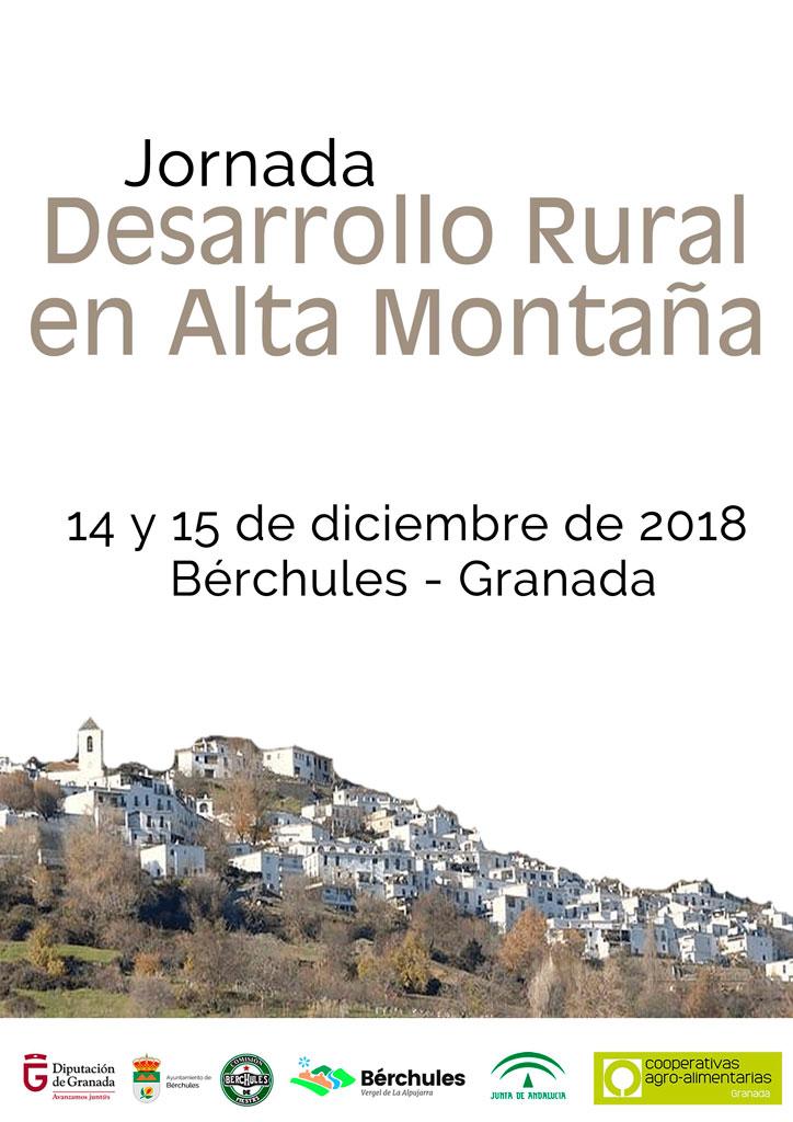 Cartel jornada desarrollo rural en alta montaña