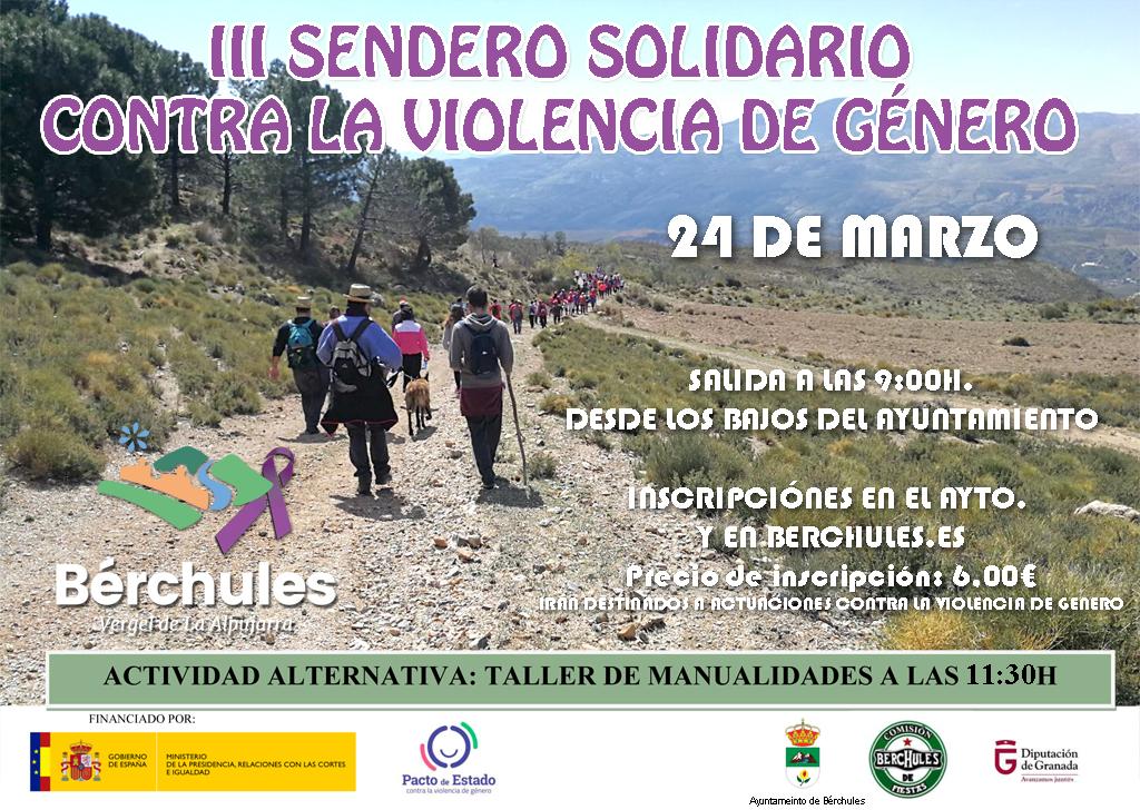 Sendero solidario contra la violencia de género
