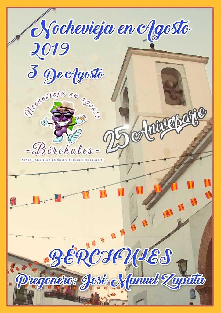 Cartel Nochevieja en Agosto 2019 Bérchules